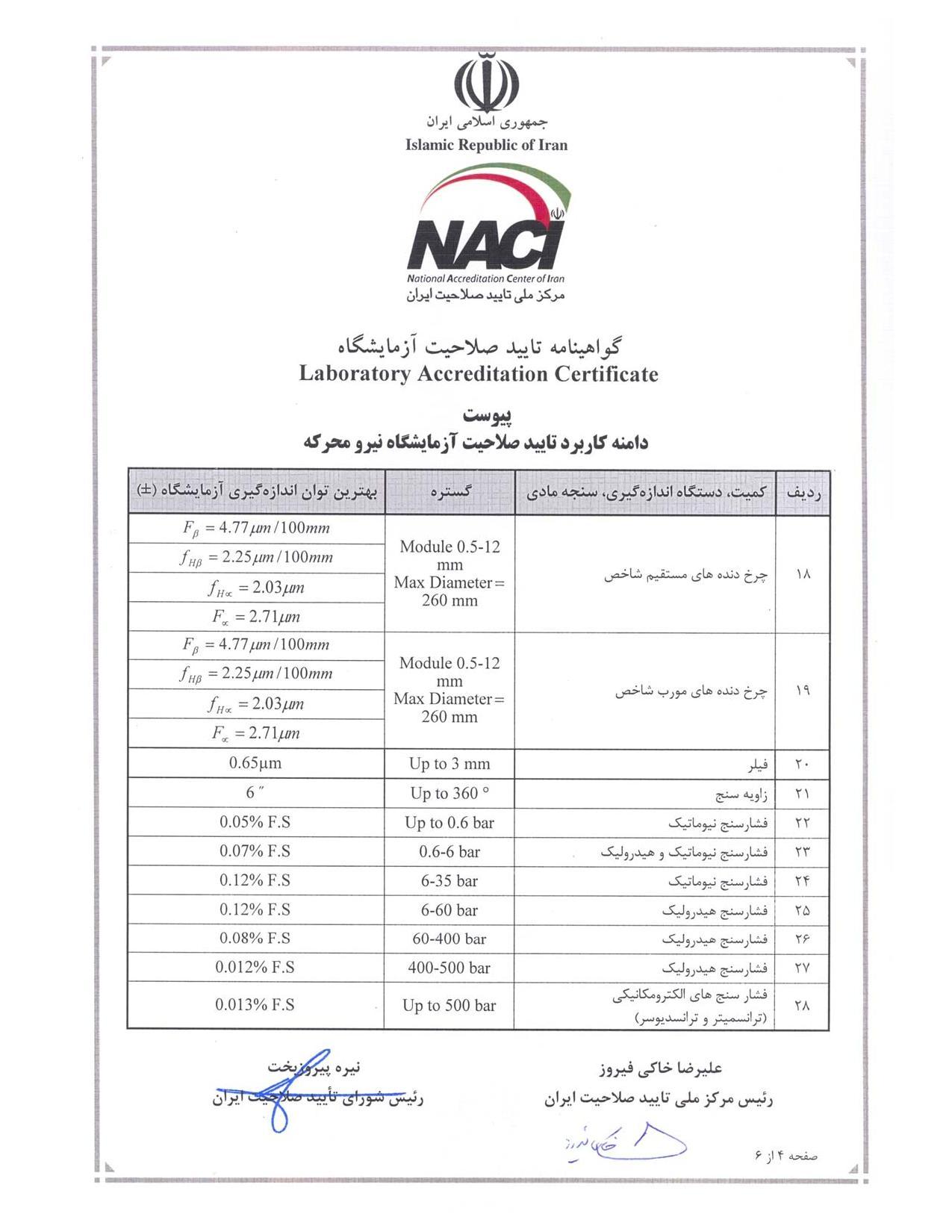 گواهینامه تایید صلاحیت آزمایشگاه(3)